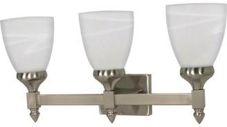 Yardley London Charlton Home 3-Light Vanity Light Charlton Home Bulb: 13 Watt-Energy Star