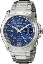Citizen Men's AW1350-83M Drive from HTM Analog Display Japanese Quartz Silver Watch
