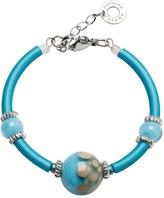 Antica Murrina Veneziana Papaya 2 Light Blue Bracelet w/Pastel Murano Glass Beads