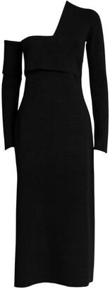 Proenza Schouler Bandage One-Shoulder Midi Dress