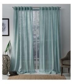 "Exclusive Home Bella Sheer Hidden Tab Top Curtain Panel Pair, 54"" x 84"""
