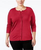 August Silk Plus Size Silk-Blend Cardigan