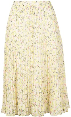 Jason Wu Floral-Print Pleated Skirt