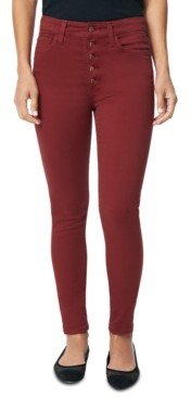 Joe's Jeans Button-Fly High-Rise Skinny Jeans