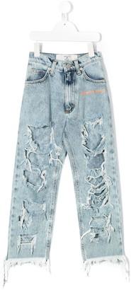Natasha Zinko Kids Ripped Detail Jeans
