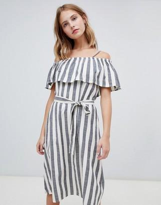 Ichi Stripe Bardot Dress