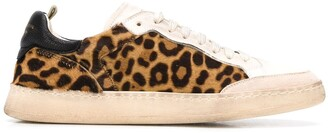 Officine Creative Leopard Print Sneakers