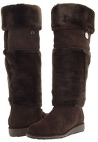 Stuart Weitzman Furry (Cola Sport Suede) - Footwear
