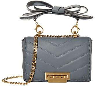 ZAC Zac Posen Soft Earthette Mini Chain Crossbody (Steel) Handbags