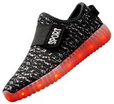 Acme Kid Boy Girl Upgraded USB Charging LED Light Sport Shoes Flashing Sneakers