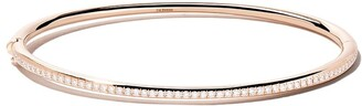 De Beers 18kt rose gold Micropave diamond bangle