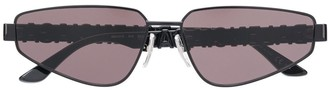 Balenciaga Rectangle-Frame Crystal-Embellished Sunglasses