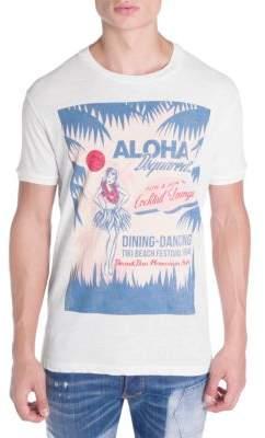 DSQUARED2 Aloha Graphic Cotton Tee