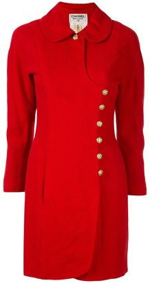 Chanel Pre Owned CC button coat
