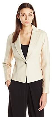 Ellen Tracy Women's Single Button Sculpted Jacket
