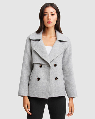 Belle & Bloom I'm Yours Wool Blend Peacoat