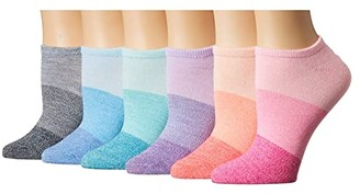 Sof Sole Sunset Marl No Show 6-Pack (Assorted) Women's Crew Cut Socks Shoes
