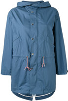 MAISON KITSUNÉ water repellent parka coat - women - Cotton - L