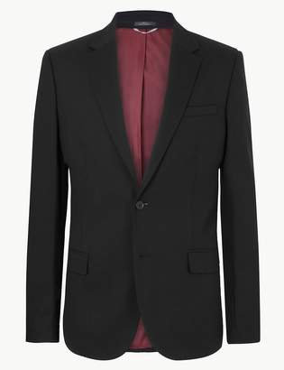 M&S CollectionMarks and Spencer Black Textured Tailored Fit Jacket
