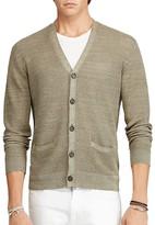Polo Ralph Lauren Linen Silk V-Neck Cardigan Sweater