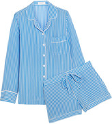 Equipment Lillian striped washed-silk pajama set