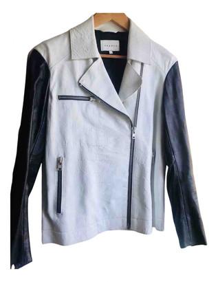 Sandro Spring Summer 2019 Ecru Leather Jackets