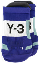 Y-3 ribbed logo socks - unisex - Polyester - S