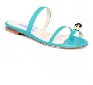 Alexis Isabel Felixa Turquoise Blue Leather Sandal