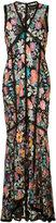 Nicole Miller floral embroidered dress - women - Silk/Nylon - 4
