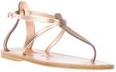 K. Jacques contrast t-strap sandal