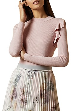 Ted Baker Dixiiy Ruffled-Shoulder Sweater