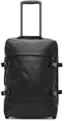 Eastpak Black Leather Small Tranverz Suitcase