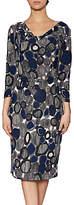 Gina Bacconi Josephine Warm Handle Stripe Dress, Grey