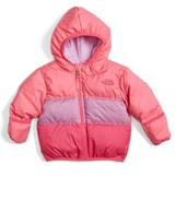 The North Face Infant Girl's 'Moondoggy' Reversible Down Jacket
