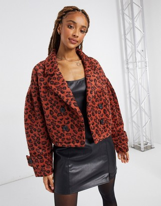 BB Dakota leopard brushed jacquard jacket in rust