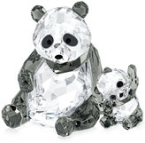Swarovski Collectible Figurine, Panda Mother with Baby