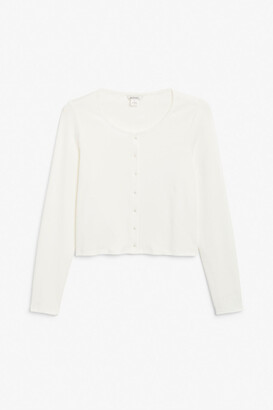 Monki Button-up long sleeve top