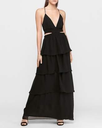 Express Tiered Cut-Out Maxi Dress