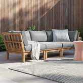 Anthony Logistics For Men Outdoor Teak 3 Piece Patio Chair Set with Cushions Foundstone Cushion Color: Gray