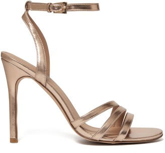 Forever New Rosanna Asymmetric Stiletto Heels - Rose Gold - 36