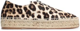 Alexander Wang Devon Leopard-print Calf Hair Espadrilles