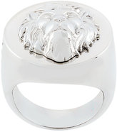 Versus lion head signet ring