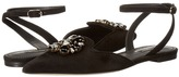 Dolce & Gabbana Suede Bellucci/Swarovski Crystal Flat with Ankle Strap Women's Shoes