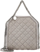 Stella McCartney Women's Falabella Shaggy Deer Tiny Tote-LIGHT GREY