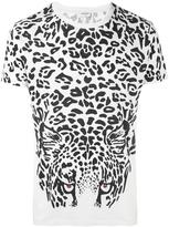 Saint Laurent leopard print T-shirt - men - Cotton - M