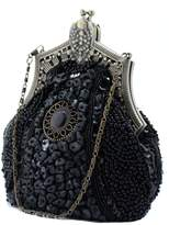 Snowskite Women's Antique Beaded Party Clutch Vintage Purse Evening Handbag