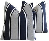 One Kings Lane Vintage French Stripe Ticking Fabric Pillows