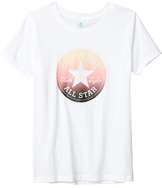 Converse Ombre Chuck Patch T-Shirt (White) Women's Clothing