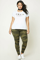 Forever 21 FOREVER 21+ Plus Size Army Leggings