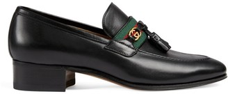 Gucci Women's Loafers with Web and Interlocking G